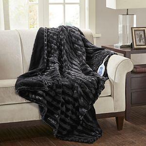 Beautyrest Duke Faux Fur Heated Throw