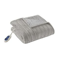 Beautyrest Duke Faux Fur Heated Throw