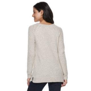 Women's SONOMA Goods for Life? Supersoft Lattice Stitch Crewneck Sweater
