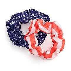 2-pk. Stars & Stripes Scrunchies