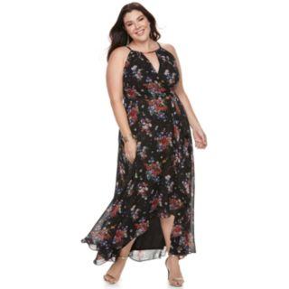 Plus Size Chaya Floral Wrap Maxi