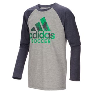 Boys 4-7x adidas climalite Soccer Logo Graphic Raglan Tee