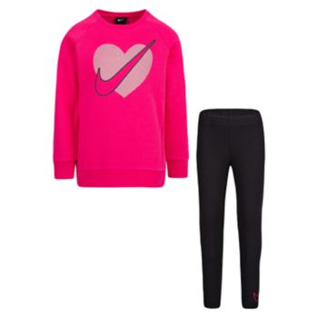 Girls 4-6x Nike Heart Graphic Sweatshirt & Leggings Set