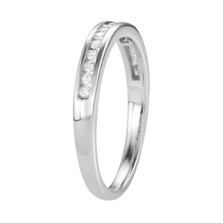 10k White Gold 1/4 Carat T.W. Diamond Channel Set Wedding Ring
