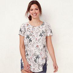 Women's LC Lauren Conrad Print Tie-Back Tee
