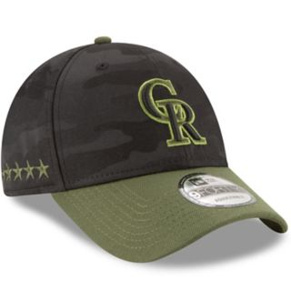 Adult New Era Colorado Rockies 9FORTY Memorial Day Flex-Fit Cap