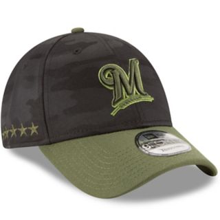 Adult New Era Milwaukee Brewers 9FORTY Memorial Day Flex-Fit Cap