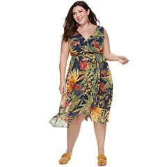Plus Size Chaya Floral Wrap Dress
