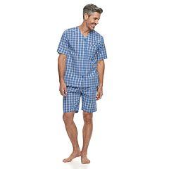 Men's Residence Plaid Poplin Pajama Set