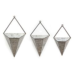 Stratton Home Decor Triangle Wall Planter 3-piece Set