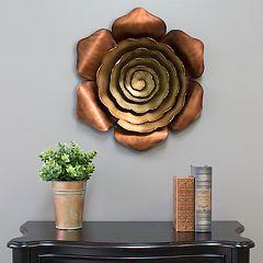 Stratton Home Decor Metal Flower Wall Decor