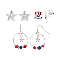 Festive Star Earring Set