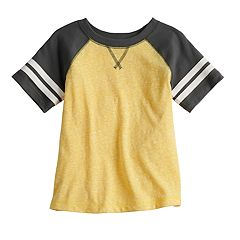 Toddler Boy Jumping Beans® Short Sleeve Striped Raglan Tee
