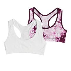 Girls 7-16 Maidenform 2-pack Tie-Dye Seamless Racerback Bras