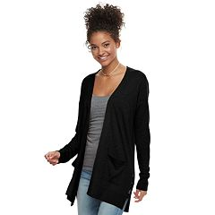 Juniors' SO® Lattice Boyfriend Cardigan