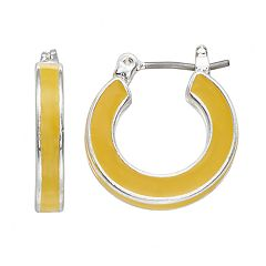Napier Small Click-it Hoop Earring