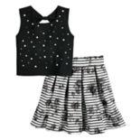 Girls 7-16 Beauteez Tank Top & Skirt Set