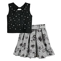 Girls 7-16 Beauteez Tank Top & Skirt Set