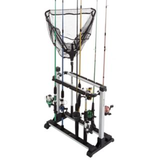 Wakeman Outdoors Fishing 10-Rod Rack