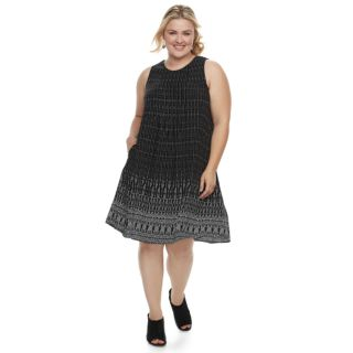 Plus Size SONOMA Goods for Life? Pintuck Challis Shift Dress