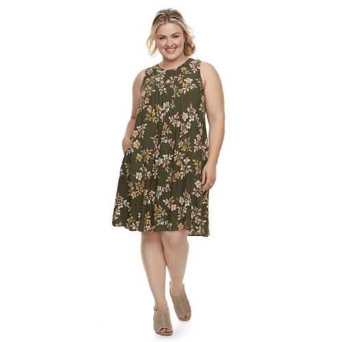 Plus Size SONOMA Goods for Life™ Pintuck Challis Shift Dress