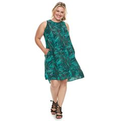 Plus Size SONOMA Goods for Life™ Pintuck Challis Shift Dress