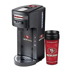 Boelter San Francisco 49ers Deluxe Coffee Maker & 14-Ounce Travel Tumbler Mug