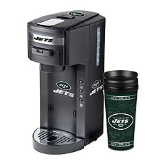Boelter New York Jets Deluxe Coffee Maker & 14-Ounce Travel Tumbler Mug