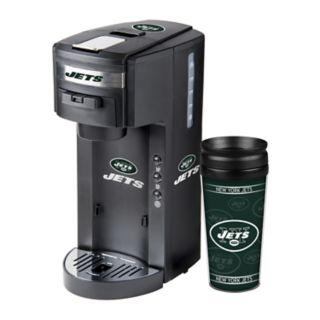 Boelter New York Jets Deluxe Coffee Maker & 14-Ounce Travel Tumbler Mug