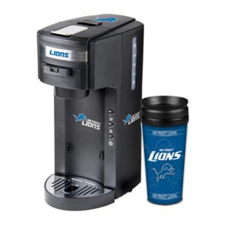 Boelter Detroit Lions Deluxe Coffee Maker & 14-Ounce Travel Tumbler Mug