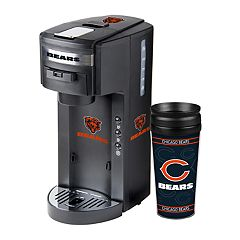 Boelter Chicago Bears Deluxe Coffee Maker & 14-Ounce Travel Tumbler Mug