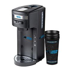 Boelter Carolina Panthers Deluxe Coffee Maker & 14-Ounce Travel Tumbler Mug