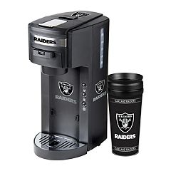 Boelter Oakland Raiders Deluxe Coffee Maker & 14-Ounce Travel Tumbler Mug