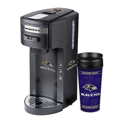Boelter Baltimore Ravens Deluxe Coffee Maker & 14-Ounce Travel Tumbler Mug