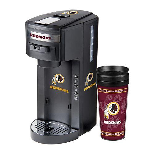 Boelter Washington Redskins Deluxe Coffee Maker & 14-Ounce Travel Tumbler Mug