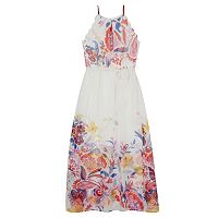 Girls 7-16 IZ Amy Byer Floral Scalloped Armhole A-Line Dress