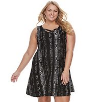 Juniors' Plus Size Mudd® Crisscross Skater Dress