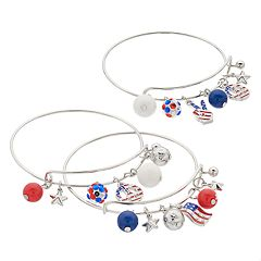 Patriotic Charm Bangle Set