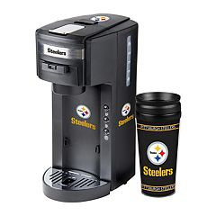 Boelter Pittsburgh Steelers Deluxe Coffee Maker & 14-Ounce Travel Tumbler Mug
