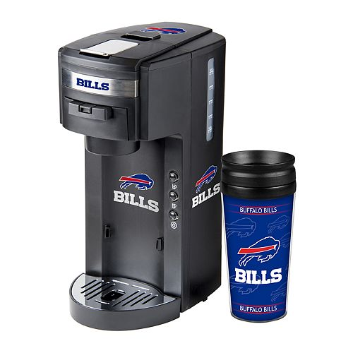Boelter Buffalo Bills Deluxe Coffee Maker & 14-Ounce Travel Tumbler Mug