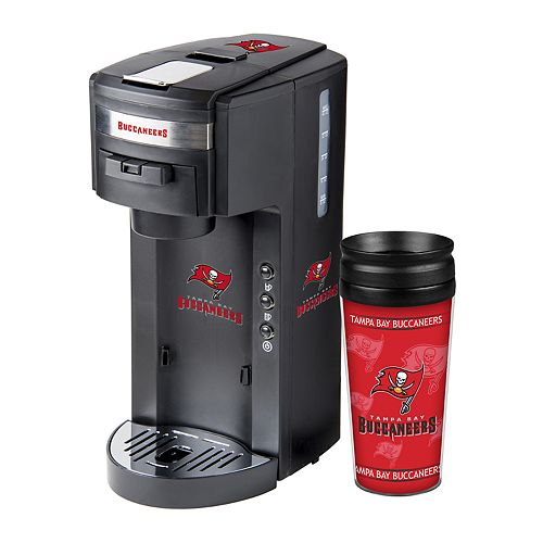 Boelter Tampa Bay Buccaneers Deluxe Coffee Maker & 14-Ounce Travel Tumbler Mug