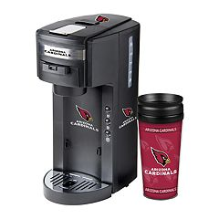 Boelter Arizona Cardinals Deluxe Coffee Maker & 14-Ounce Travel Tumbler Mug