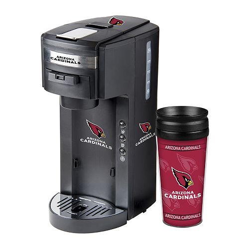 Boelter Arizona Cardinals Deluxe Coffee Maker & 14-Ounce Travel Tumbler Mug