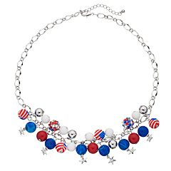 Flag Beaded Collar Necklace