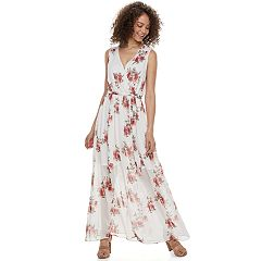Juniors' JOLIE VIE Smocked Shoulder Maxi Dress