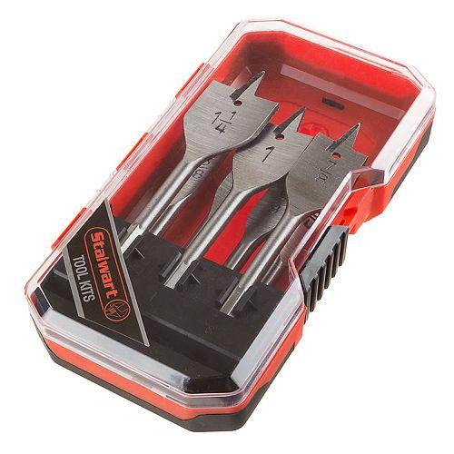 Stalwart 7-Piece Spade Drill Bit Set