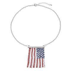 Mesh Flag Collar Necklace