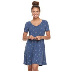 Juniors' Mudd® Cupro Short Sleeve Dress