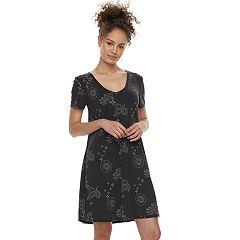 Juniors' Mudd® Cupro Short Sleeve Dress
