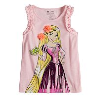 Disney Princess Rapunzel Girls 4-10 Ruffled Sleeve Tank Top by Jumping Beans®